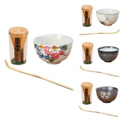 Japanese Matcha Bamboo Chasen Whisk / Teascoop / Ceramic Bowl Tea Ceremony Tool