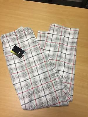 "Nike Tour Performance Dri-Fit Checked Golf Trousers - W 36"" L 32"""