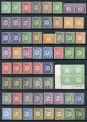 GB Mint Postage Dues. Mixed Lot mostly MM, a few MNH. Cat est £400+