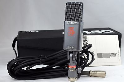 Super Mint 1980's Vintage Sony C-450 Condenser Microphone Mic