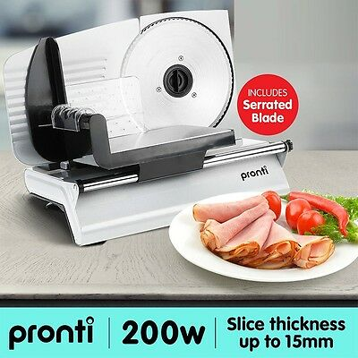 Meat Slicer Deli Serrated Blade Electric Food Cheese Cutter Machine Kitchen