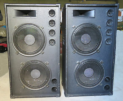 ENCEINTES SONO 800W NON AMPLIFIES (2 boomers, 1 trompe medium, 4 tweeters)
