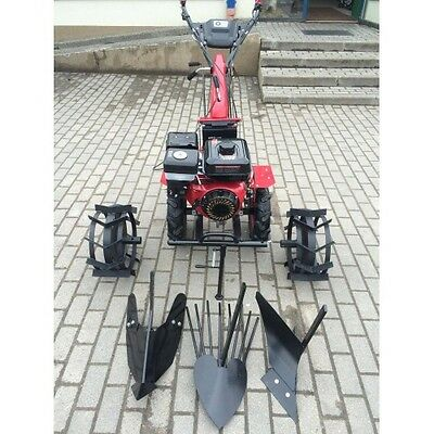 New Tiller Cultivator Walk-behind Tractor 6.5HP with wheels and ploughs warranty