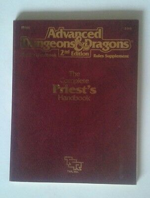 complete handbook of priest's priests 2nd 2E AD&D RPG roleplaying tsr book