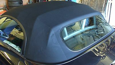 Porsche Boxster 987 Roof in Black 2005 onwards Genuine part glass screen