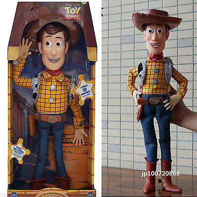 """Boys Kid Toy Story 16"""" Talking Woody Pull String Doll Figure English Phrases UK"""