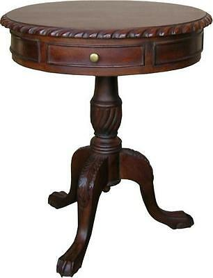 Solid Mahogany Regency Drum Table with 2 drawers Antique Reproduction NEW T016