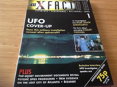 Issue 1 The X Factor Magazine Cover Ups Paranormal Alien Unexplained UFO Fortean