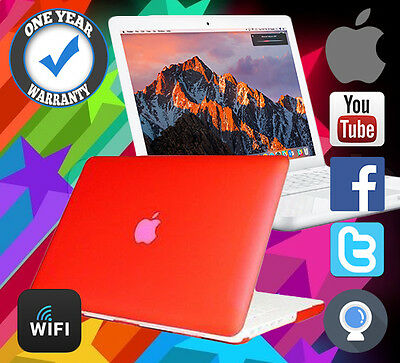 Refurbished Macbook Apple Powerful 4.5Ghz 250Gb Hdd 4Gb Ram A1342 Laptop Red