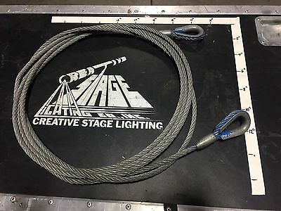 Used - 20' Wire Rope with 3/8 Thimble
