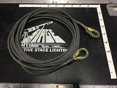 Used - 30' Wire Rope with 3/8 Thimble