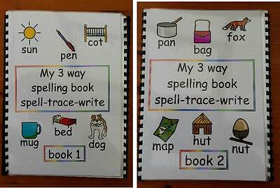 3 WAY SPELLING BOOK SPELL TRACE WRITE helps fine motor and learning autism/sen/