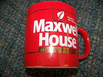 Maxwell House Instant Coffee Mug Good to Last Drop Red