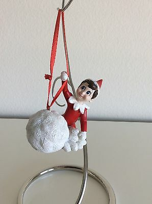 Department 56 Elf On The Shelf with Snowballs