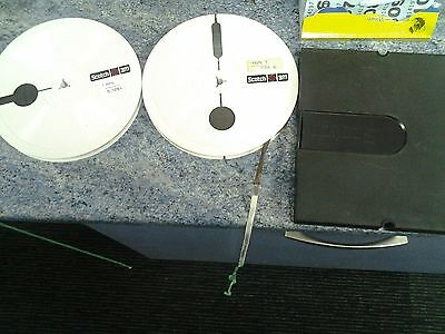two plastic scotch 3m reel to reel tapes 7 inches dia