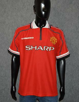 Manchester United England 1998/1999/2000 Home Football Shirt Jersey Umbro Size L