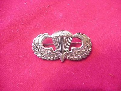 Original Wwii Full Size Airborne Paratrooper Jump Wings - Bright Finish Sterling