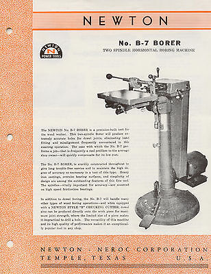 Newton- Neroc MFG Co. No.B-7 Borer Brochure