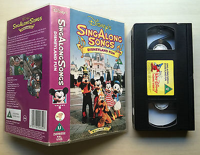 Disney - Sing Along Songs - Disneyland Fun - Vhs Video