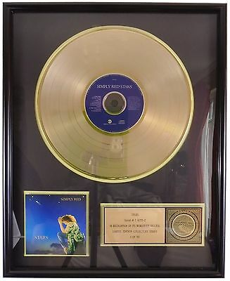 Simply Red Mick Hucknall Framed Record Stars 2002 Limited Edition # 1 Of 50