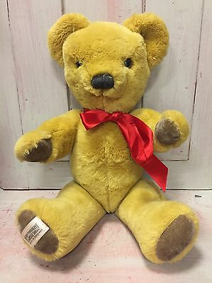 Vintage 1970s Merrythought Fully Jointed Mohair Teddy Bear - Excellent Condition