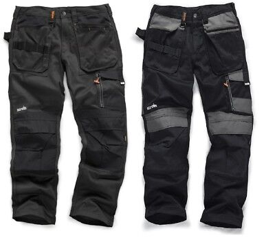 SCRUFFS Work Trousers 3D TRADE Knee Pad Pockets Hard Wearing CORDURA FABRIC