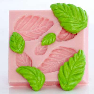 Rose Leaf Silicone Mold  Flower Paste Candy Mint Polymer Clay Resin Mold (703)