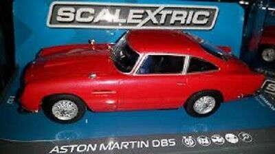 Scalextric C3722 Aston Martin DB5 Red Slot Car