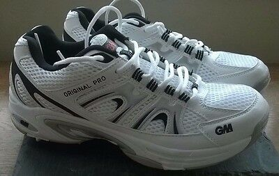 Gunn & Moore Original Pro White Cricket Shoes, UK 6, NEW