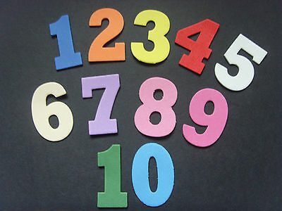 numbers 4.3cm bright funky foam children learning fun play