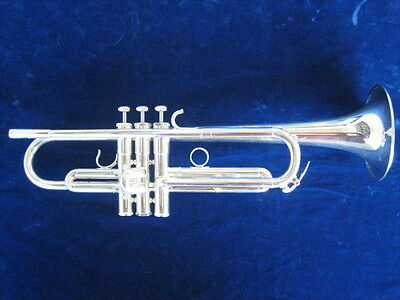 EXTRA CLEAN SCHILKE X3 LARGE BORE SILVER PLATED Bb TRUMPET X-3