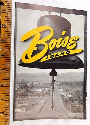 1950 Vintage Booklet Boise, Idaho Center of Recreation Big Fold-Out Travel