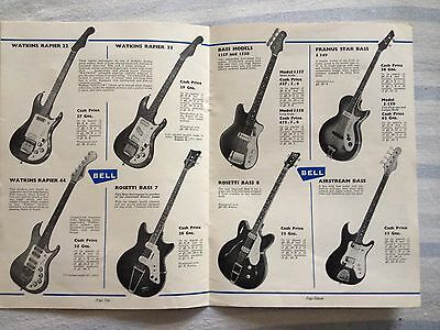Guitars And Accessories Vintage Rare Bell Brochure,guitar/amps/pickups Ect...