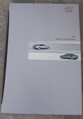 Audi A6 saloon and avant brochure 1998 1999 2000 etc 60+ pages, fine condition