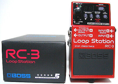 Boss RC-3 Looper Guitar Effect Pedal FREE Priority Mail shipping