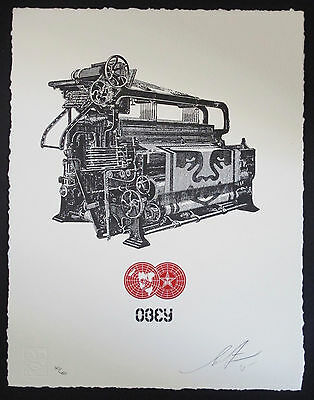 Shepard Fairey - Loom Press Signed Limited Edition Print - 1 Of 450 - Obey Giant