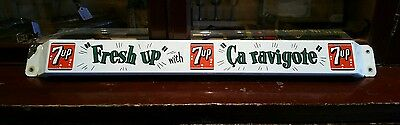 Original 1950's Seven-Up porcelain door push pushbar sign 7up FREE SHIPPING!