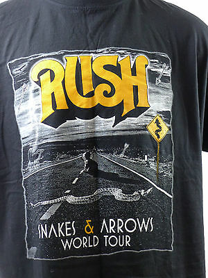 Rush Snakes & Arrows 2007 World Tour Dates Rock Concert TShirt Black Cotton XXL