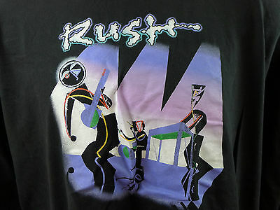 Rush a Show Of Hands Rock Concert Long Sleeve Shirt Black Cotton XXL