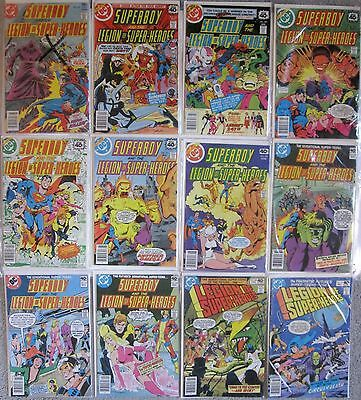 SUPERBOY and the LEGION of SUPER-HEROES 229, 246-247, 249-252, 256-258, 260-261