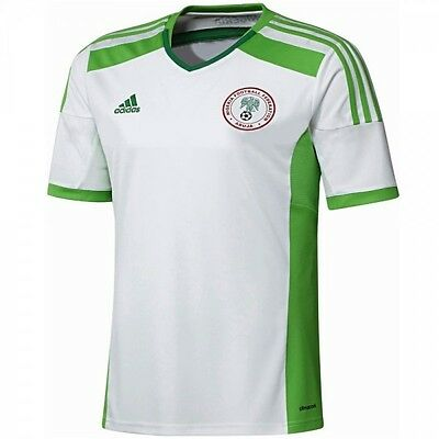 Genuine Adidas Men's Nigeria Away Football Shirt 2014/15 (D83982)