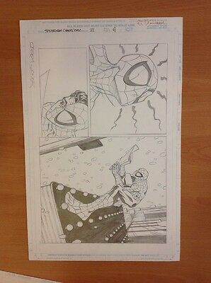 Spider-Man CyberComic Art Page Issue #21, page 4 (Signed by Casey Jones) (#29)