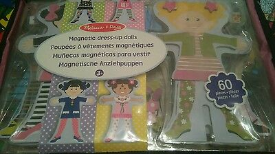 Melissa and Doug Wooden Magnetic Dress-up Dolls - Brand New NEW SEALED