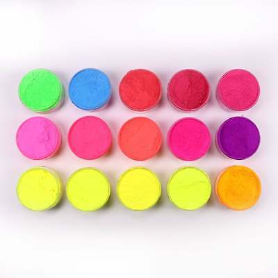 Rolkem Full Set of all 15 Lumo/Neon/Glow in the Dark Edible Food Colourings