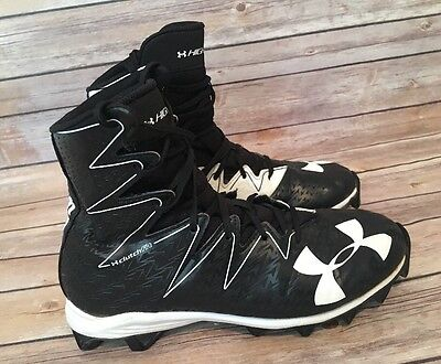 Under Armour Highlight Clutch Fit Mens Football Lacrosse Cleats Sz 9 Black White