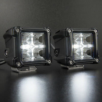 2 x LED POD Spot Lights with DRL Function