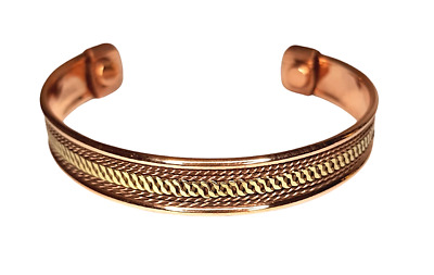 Magnetic Copper Bracelet Arthritis   Pain Relief Unisex Bangle Healing NEW