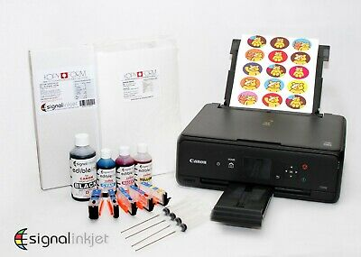 EDIBLE PRINTER KIT MG5750 - Edible Ink + Refillable Cartridges + 50 Wafer Paper