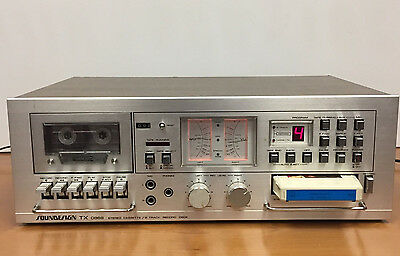 Soundesign TX 0868 Dual Deck Stereo Cassette, 8 Track Record -Made in Japan