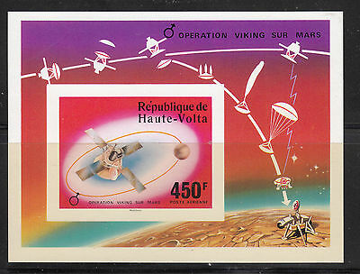 Burkina Faso 1976 Space Mars MS IMPERF Sc C240 mint never hinged